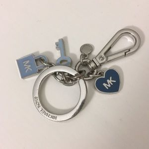 Authentic Michael Kors blue and silver key chain